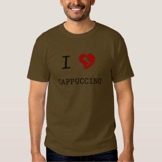 Eu amo o vintage do Cappuccino T-shirts