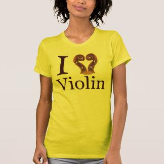 EU AMO o violino Camiseta