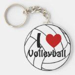 Eu amo o voleibol chaveiros