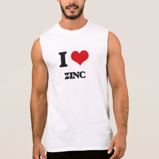 Eu amo o zinco camisetas sem manga