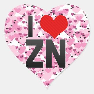 Eu amo o ZN Adesivo Em Forma De Coração