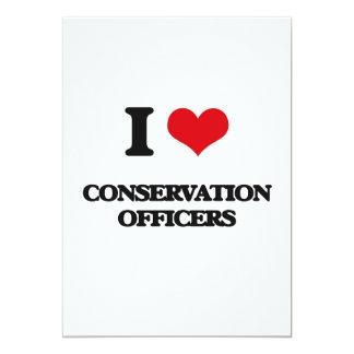 Eu amo oficiais da conservação convite 12.7 x 17.78cm