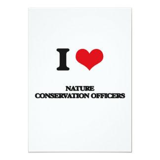 Eu amo oficiais da conservação da natureza convite 12.7 x 17.78cm