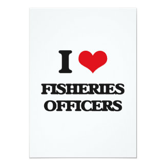 Eu amo oficiais da pesca convite 12.7 x 17.78cm