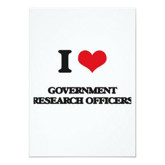 Eu amo oficiais da pesquisa do governo convite 12.7 x 17.78cm