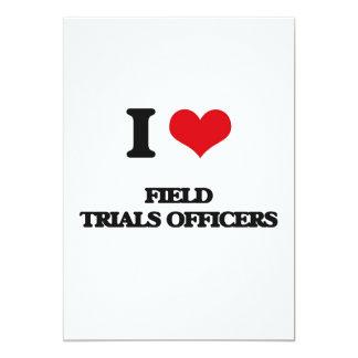Eu amo oficiais das experimentações de campo convite 12.7 x 17.78cm