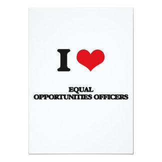 Eu amo oficiais das oportunidades iguais convite 12.7 x 17.78cm