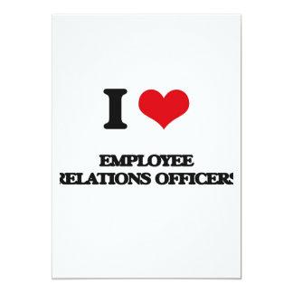 Eu amo oficiais das relações de empregado convite 12.7 x 17.78cm
