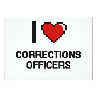 Eu amo oficiais de correções convite 12.7 x 17.78cm