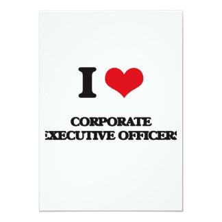Eu amo oficiais de executivo empresarial convite 12.7 x 17.78cm