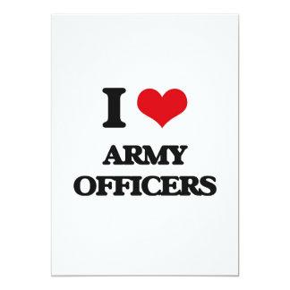 Eu amo oficiais de exército convite 12.7 x 17.78cm