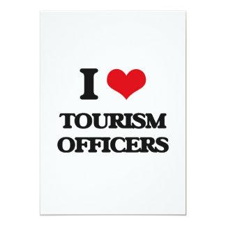 Eu amo oficiais do turismo convite 12.7 x 17.78cm