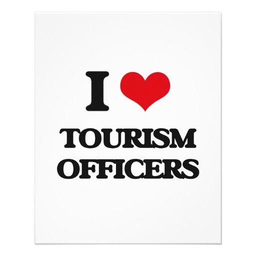 Eu amo oficiais do turismo panfleto personalizado