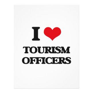 Eu amo oficiais do turismo modelos de panfleto