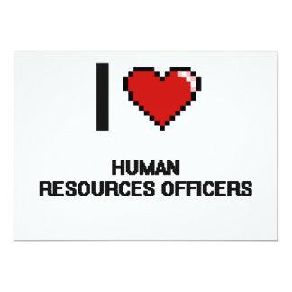 Eu amo oficiais dos recursos humanos convite 12.7 x 17.78cm