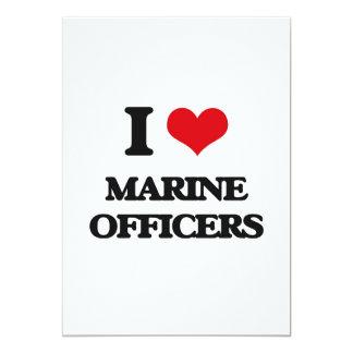 Eu amo oficiais marinhos convite 12.7 x 17.78cm
