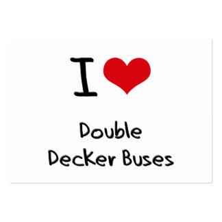 Eu amo ônibus do autocarro de dois andares cartão de visita
