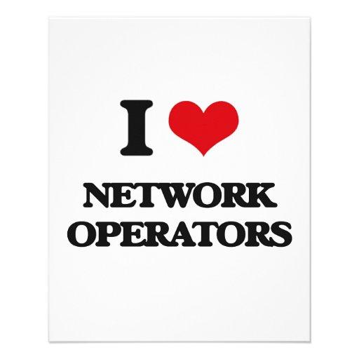 Eu amo operadores de rede panfletos