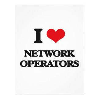 Eu amo operadores de rede panfletos personalizados