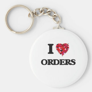 Eu amo ordens chaveiro