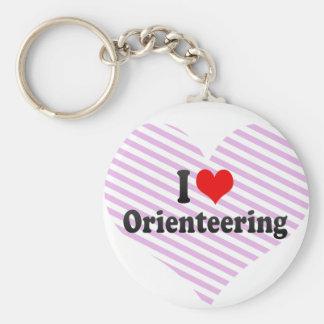 Eu amo Orienteering Chaveiros