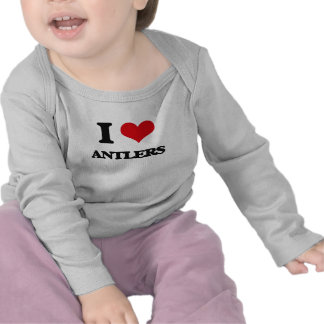 Eu amo os Antlers Camisetas