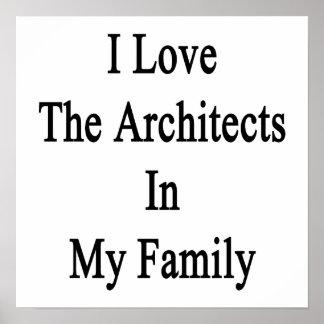 Eu amo os arquitetos em minha família poster
