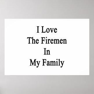 Eu amo os bombeiros em minha família poster