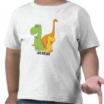Eu amo os dinossauros - trio do t-shirt bonito de