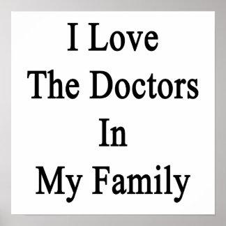Eu amo os doutores minha família poster