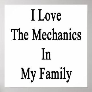 Eu amo os mecânicos em minha família poster