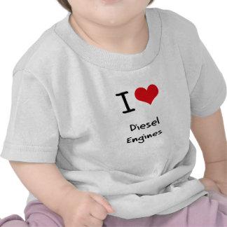 Eu amo os motores diesel t-shirts