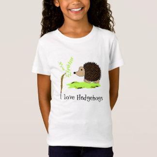 Eu amo ouriços camiseta
