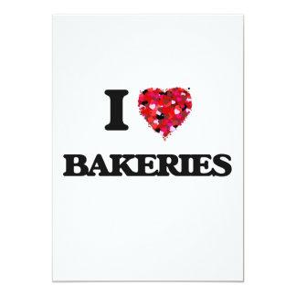 Eu amo padarias convite 12.7 x 17.78cm