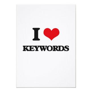 Eu amo palavras-chaves convites