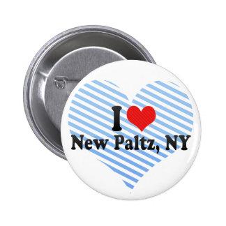 Eu amo Paltz novo NY Boton