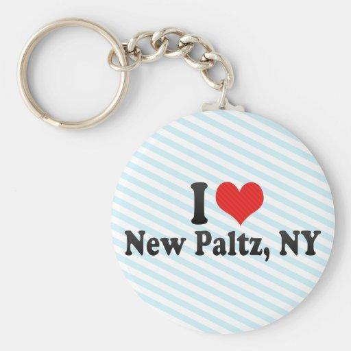 Eu amo Paltz novo, NY Chaveiros