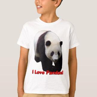 Eu amo pandas! A panda gigante caçoa a camisa