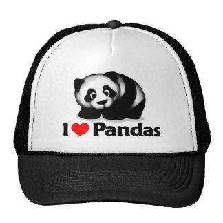 Eu amo pandas bonés