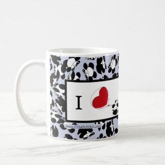 Eu amo pandas caneca de café