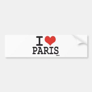 Eu amo Paris Adesivo