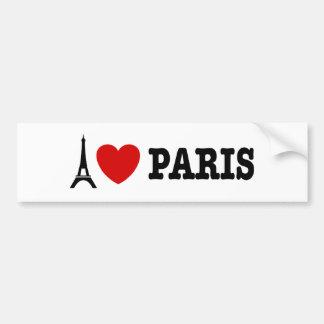 Eu amo Paris Adesivo Para Carro