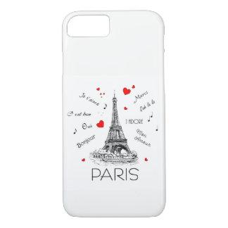 Eu amo Paris, caso amoroso de segunda-feira Capa iPhone 8/ 7