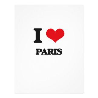 Eu amo Paris Modelo De Panfleto