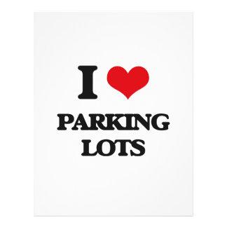 Eu amo parques de estacionamento panfleto
