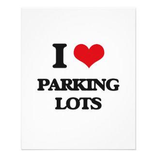 Eu amo parques de estacionamento panfleto personalizado