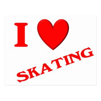 Eu amo patinar cartão postal