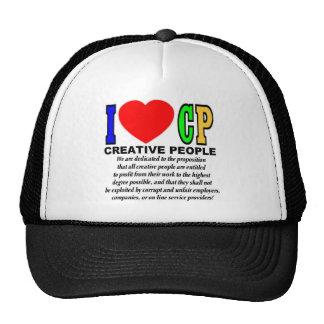 Eu amo PC (as pessoas criativas) Boné