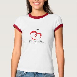 Eu amo Pena cristão Camisetas