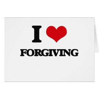 eu AMO perdoar Cartao